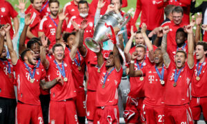 Bayern player lifted the Champions League Cup