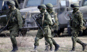 The United States is suspected of supporting anti-Russian forces in Crimea