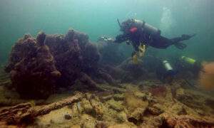 Discovered rare slave ship wrecks